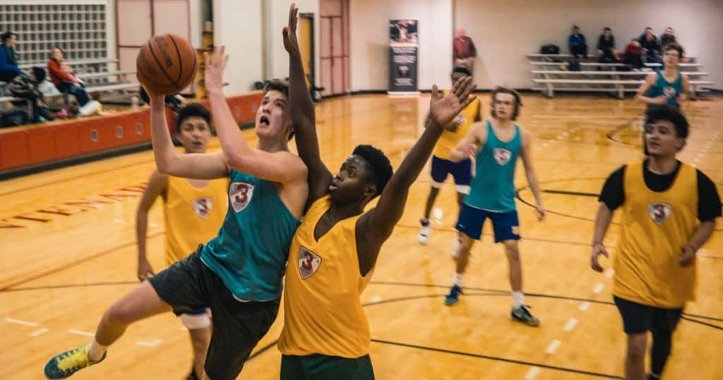 Entrainement basket U15 : Tir en course