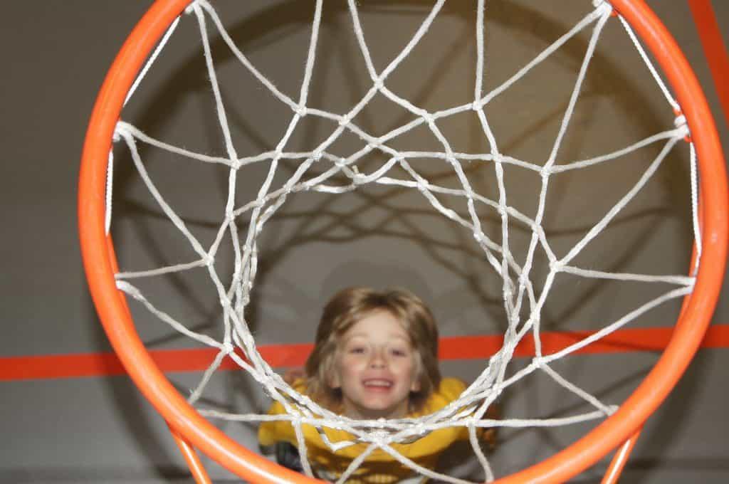 Entrainement basket U9 panier