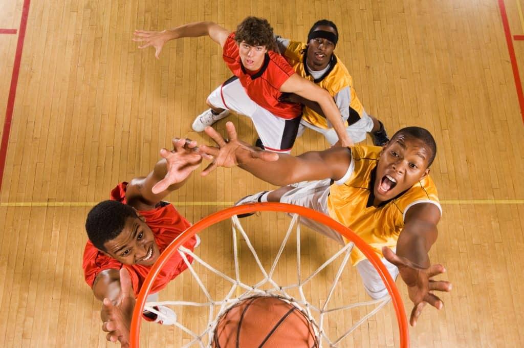 rebond basket match