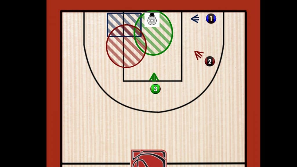 Rebond basket zone