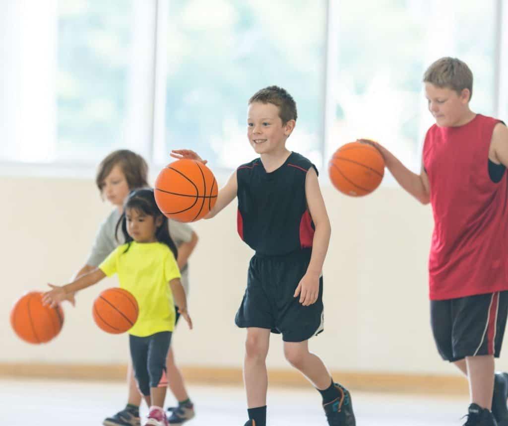Dribble basket enfant