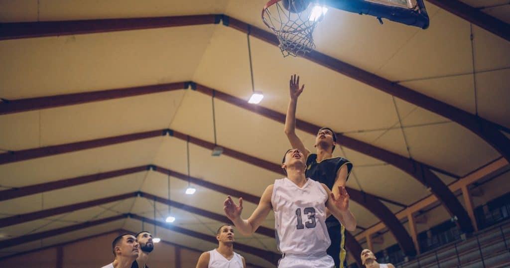 Entrainement basket U17 rebond
