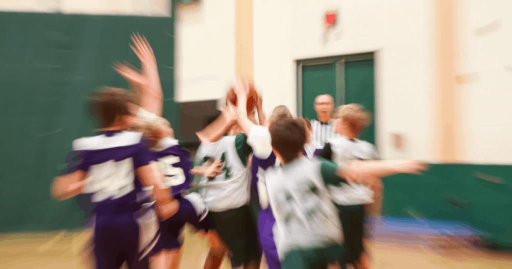 contre attaque basket enfant